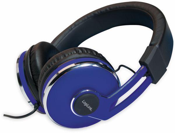 Over-Ear Kopfhörer LOGILINK HS0040, schwarz/blau - Produktbild 8