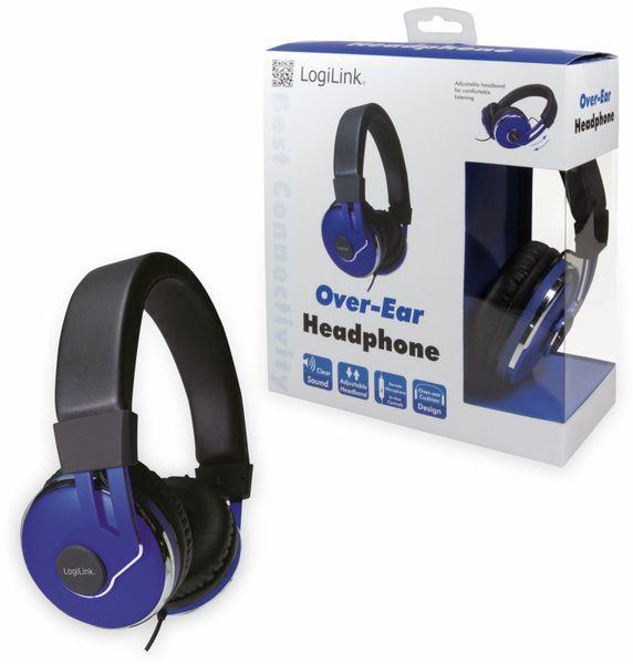 Over-Ear Kopfhörer LOGILINK HS0040, schwarz/blau - Produktbild 10