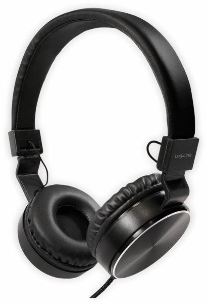 On-Ear Kopfhörer LOGILINK HS0049BK, faltbar, schwarz