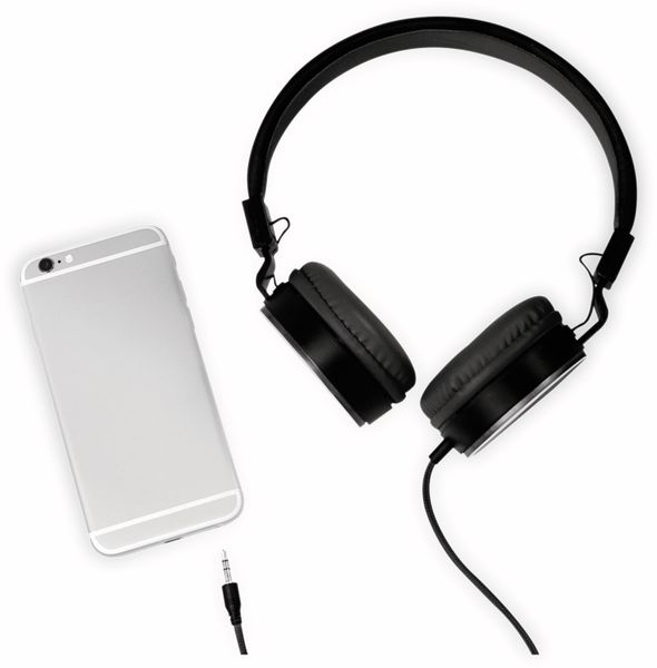 On-Ear Kopfhörer LOGILINK HS0049BK, faltbar, schwarz - Produktbild 5