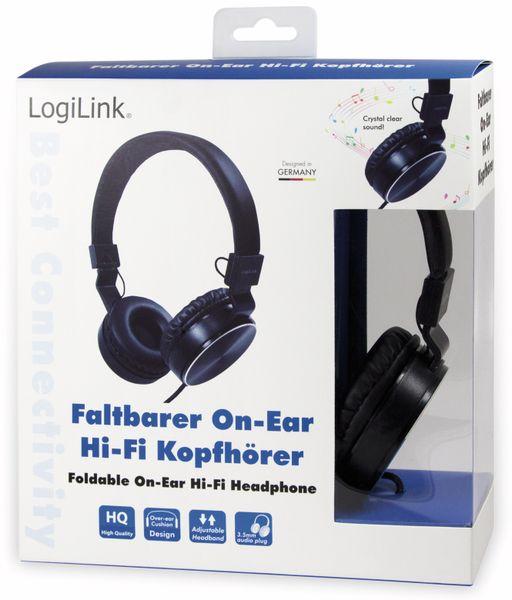 On-Ear Kopfhörer LOGILINK HS0049BK, faltbar, schwarz - Produktbild 6