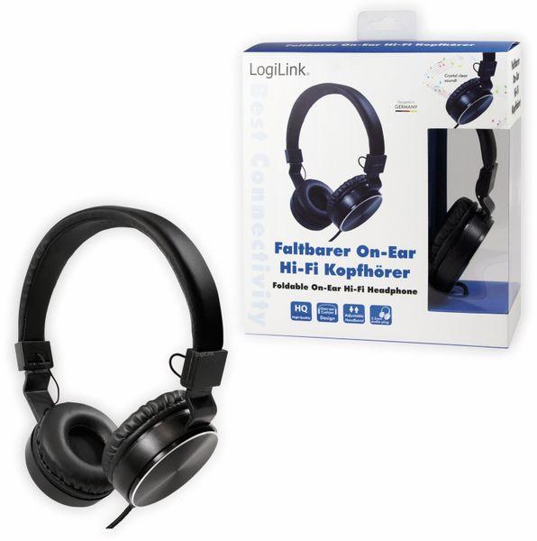 On-Ear Kopfhörer LOGILINK HS0049BK, faltbar, schwarz - Produktbild 7