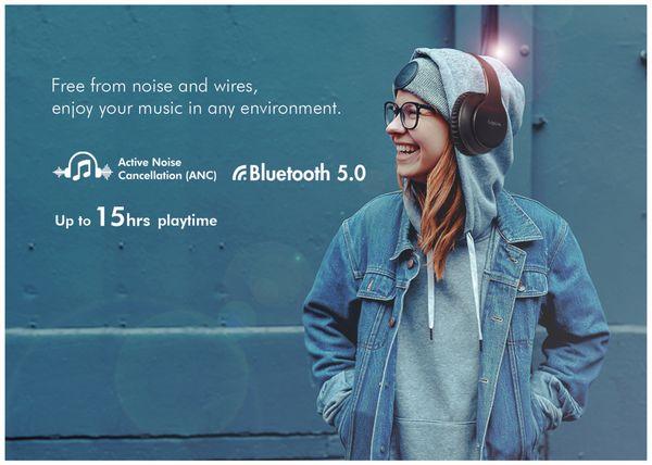 Bluetooth Over-Ear Kopfhörer LOGILINK BT0053, mit Active-Noise-Cancelling - Produktbild 6