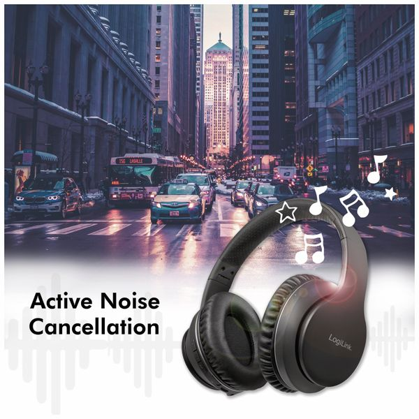 Bluetooth Over-Ear Kopfhörer LOGILINK BT0053, mit Active-Noise-Cancelling - Produktbild 8