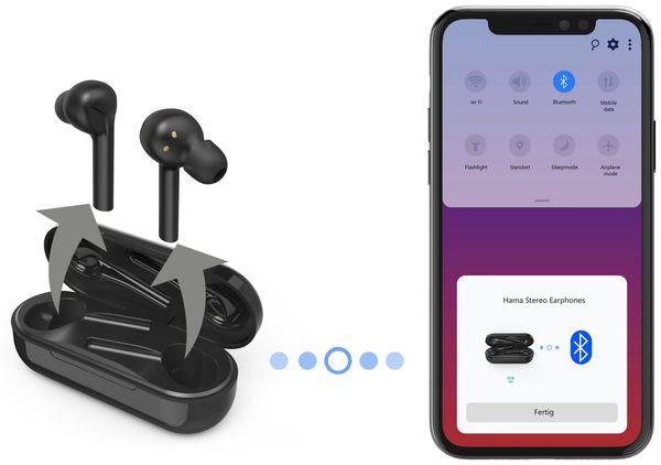 In-Ear Ohrhörer HAMA Style, BT, inkl. Mikrofon, schwarz - Produktbild 2