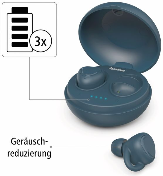 In-Ear Ohrhörer HAMA LiberoBuds, blau - Produktbild 5