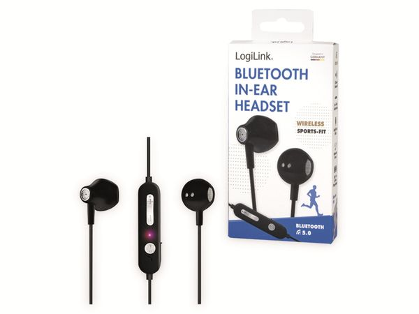 In-Ear Ohrhörer LOGILINK BT0056, Bluetooth 5.0, inkl. Mikrofon, schwarz - Produktbild 9