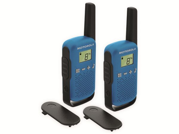 PMR-Funkgeräte-Set MOTOROLA Talkabout T42, blau