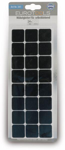Filzgleiter EUROTOOLS 340-NBFR, 28x28 mm, 24 Stück - Produktbild 2