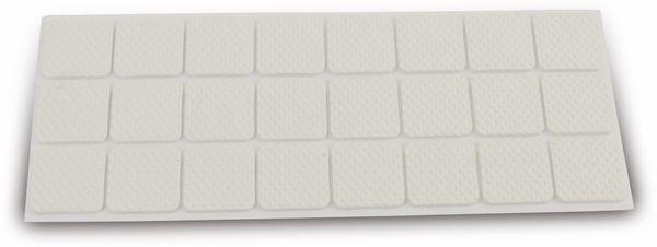Möbelgleiter EUROTOOLS 342-NBFR, EVA, 28x28 mm, 24 Stück - Produktbild 1
