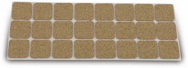 Möbelgleiter EUROTOOLS 344-NBFR, Kork, 28x28 mm, 24 Stück - Produktbild 1