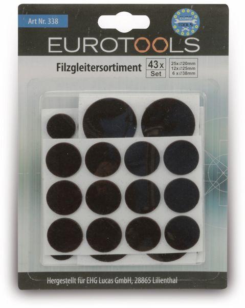 Filzgleiter-Set EUROTOOLS 338-JHHY, 43-teilig - Produktbild 2