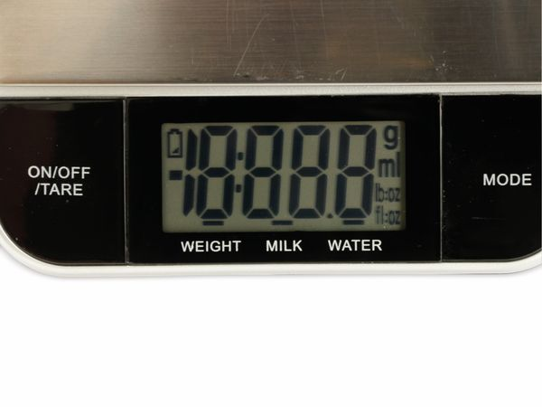 Digitale Küchenwaage, TR-KSt-02, Edelstahl, B-Ware - Produktbild 4