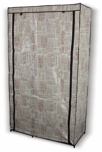 """Textil-Garderobenschrank """"Exquisit"""" 39519 D, 174x100x46 cm - Produktbild 1"""