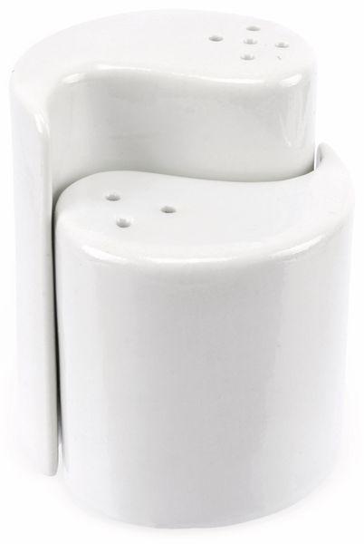 Salz- und Pfefferstreuer, Porzellan, weiß - Produktbild 1