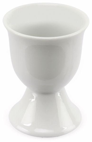 Porzellan-Eierbecher 4 Stück, weiß - Produktbild 2