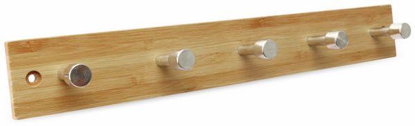 Wandregal, Bambus, 5 Haken - Produktbild 1
