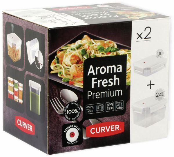 Aroma Fresh Premium Frischhaltedosen, rechteckig, 2 Stück, 1,1 L, 2,4 L - Produktbild 4