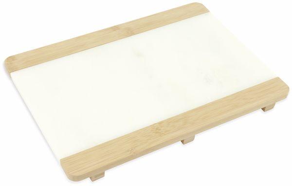 Schneide- und Serviertablett 22x31cm, Marmor/Bambus