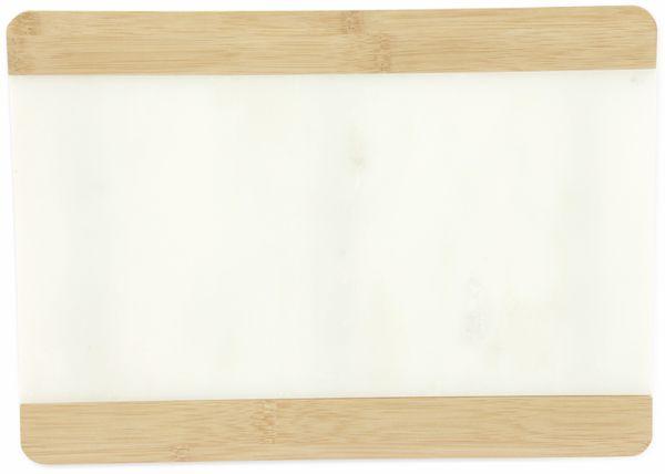 Schneide- und Serviertablett 22x31cm, Marmor/Bambus - Produktbild 3