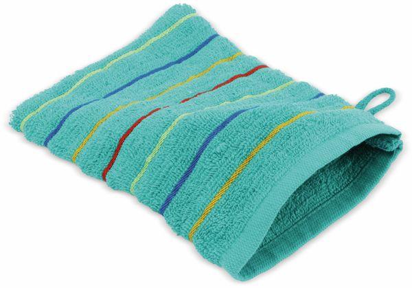 Waschhandschuh gestreift, verschiedene Farben