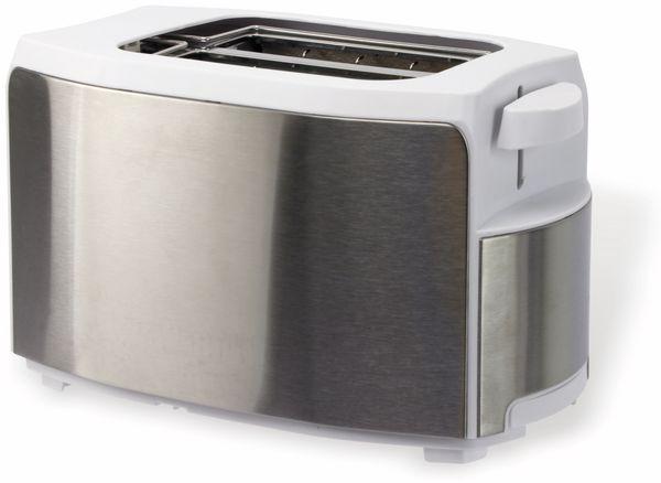 Doppelschlitz, Toaster, TR-Tds-eds04, Edelstahl/weiß, 1000 W - Produktbild 1