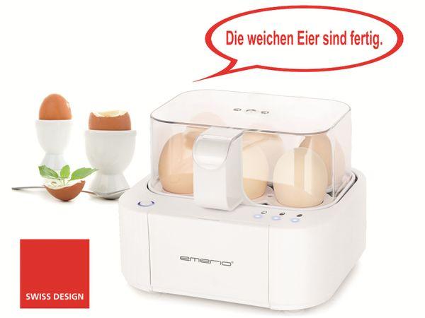 Eierkocher EMERIO EB-115560.2, 6 Eier, 400 Watt, Sprachausgabe - Produktbild 1
