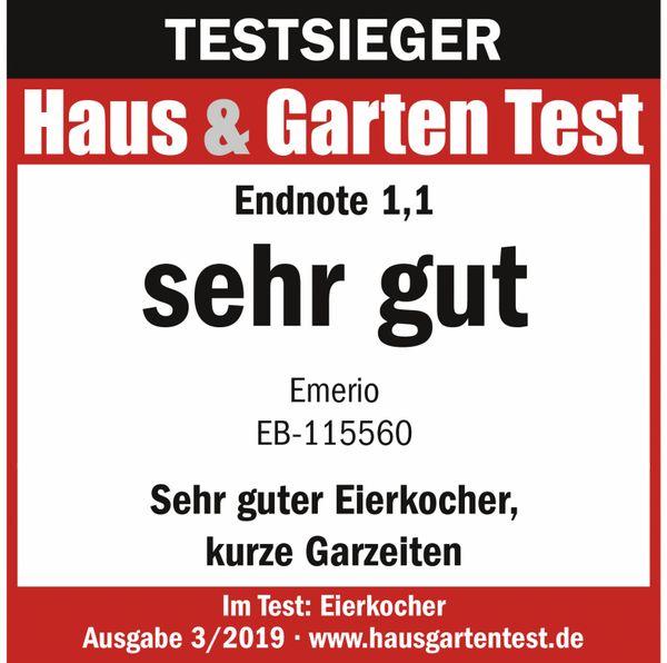 Eierkocher EMERIO EB-115560.2, 6 Eier, 400 Watt, Sprachausgabe, weiß - Produktbild 5
