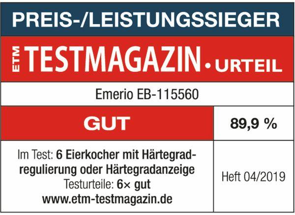 Eierkocher EMERIO EB-115560.2, 6 Eier, 400 Watt, Sprachausgabe, weiß - Produktbild 6