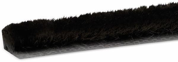 Bürstendichtung selbstklebend, 5 m, schwarz