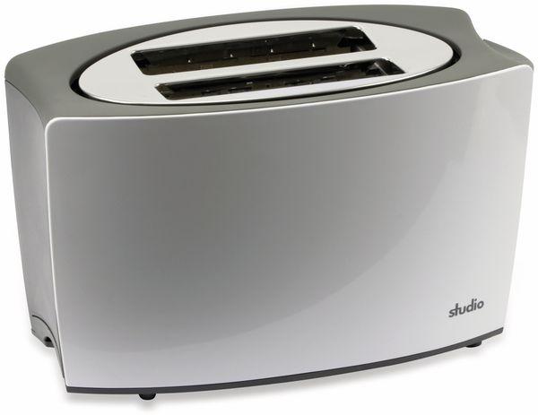 Doppelschlitz, Toaster, TR-Tds-04, weiß, 800 W, silber