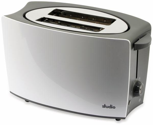 Doppelschlitz, Toaster, TR-Tds-04, weiß, 800 W, silber - Produktbild 2