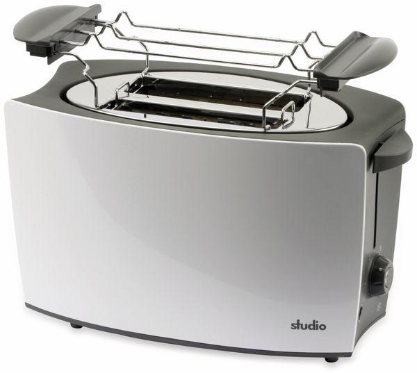 Doppelschlitz, Toaster, TR-Tds-04, weiß, 800 W, silber - Produktbild 4