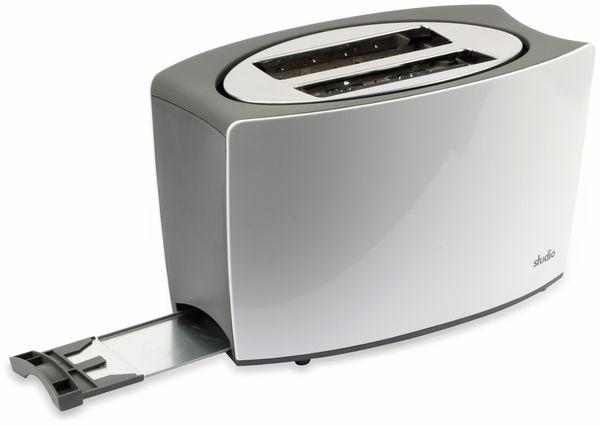 Doppelschlitz, Toaster, TR-Tds-04, weiß, 800 W, silber - Produktbild 5