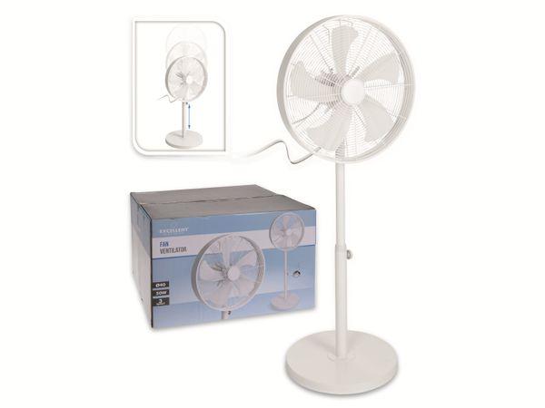 Standventilator, 40 cm, 50 W, weiß, 3 Stufen