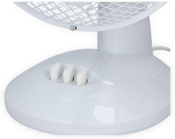 Tisch-Ventilator, Ø 23 cm, 20 W, weiß - Produktbild 3