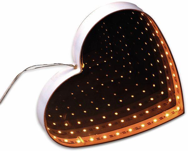 Grundig 3D Endlos-Spiegel, Herz Form