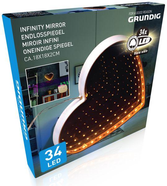 Grundig 3D Endlos-Spiegel, Herz Form - Produktbild 2