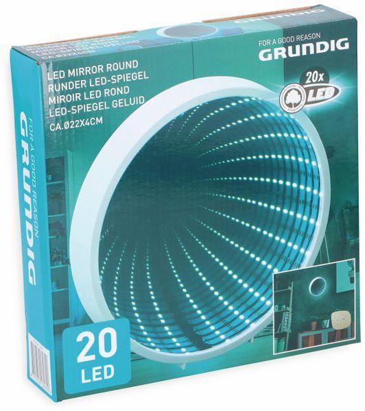 Grundig 3D Endlos-Spiegel, LED Tunnel-Licht Effekt