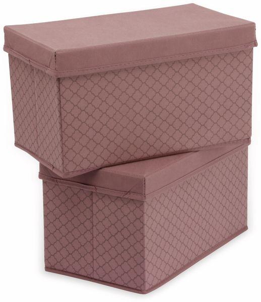 Faltboxen, Regalboxen, rosa, 2 Stück