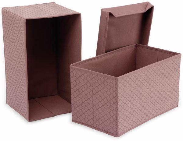 Faltboxen, Regalboxen, rosa, 2 Stück - Produktbild 2