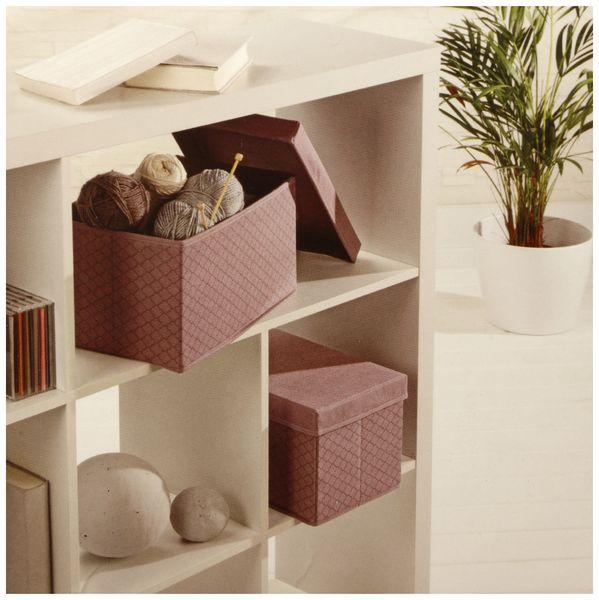 Faltboxen, Regalboxen, rosa, 2 Stück - Produktbild 4