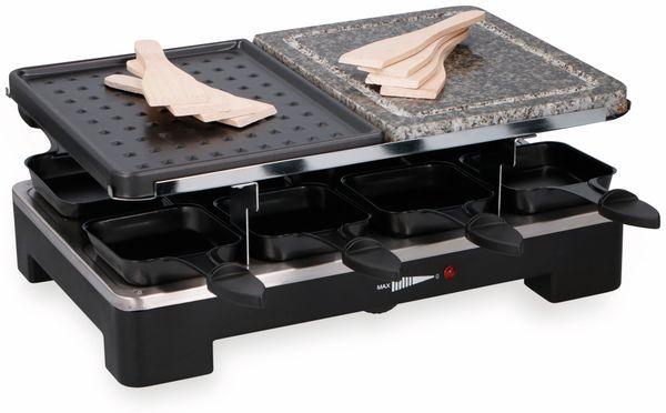 Raclette-Grill CUISINIER DELUXE, 1400 W, Steinplatte, 8 Personen