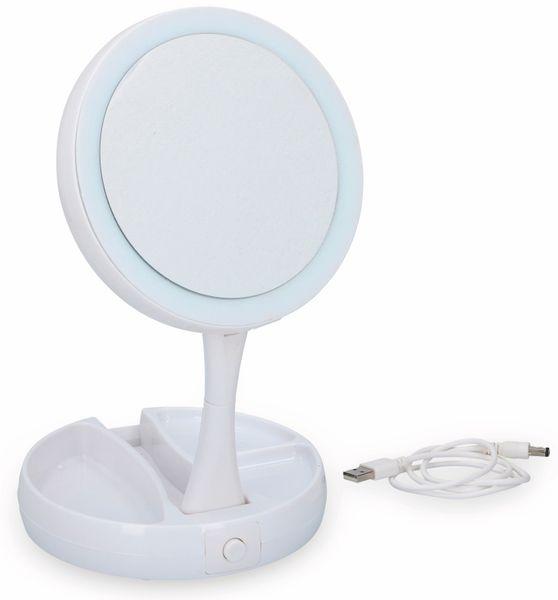 LED-Kosmetikspiegelleuchte GRUNDIG, klappbar, Batterie-/USB Betrieb