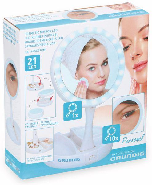 LED-Kosmetikspiegelleuchte GRUNDIG, klappbar, Batterie-/USB Betrieb - Produktbild 2