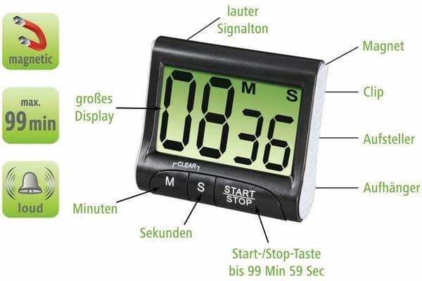 Küchentimer XAVAX Countdown, schwarz - Produktbild 4