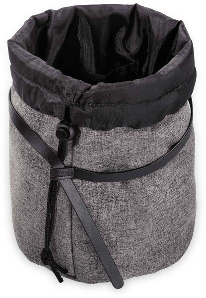 Kulturbeutel HAMA 128796, schwarz/grau, 15x15x24,5 cm