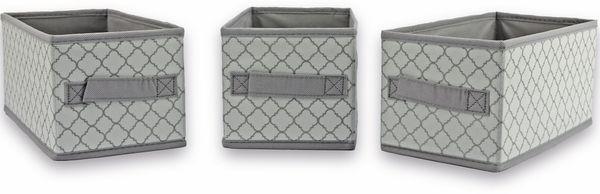 Aufbewahrungsbox, Regalbox, 14x28x13cm, grau, 3Stück