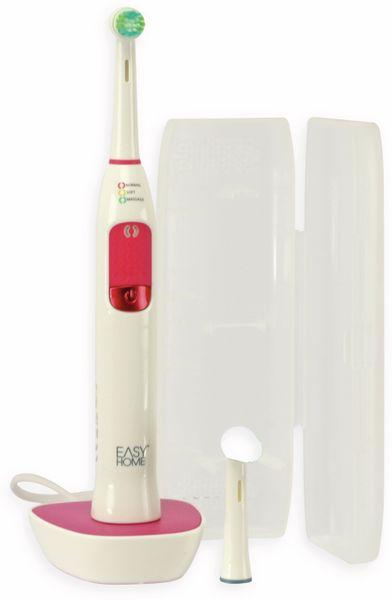 Elektrische Zahnbürste, TR-TBo-01, weiß/rosa, 2 Bürstenaufsätze