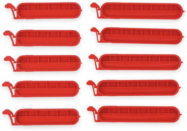 Beutel-Verschlussklammern ALPINA. 10 Stück, rot